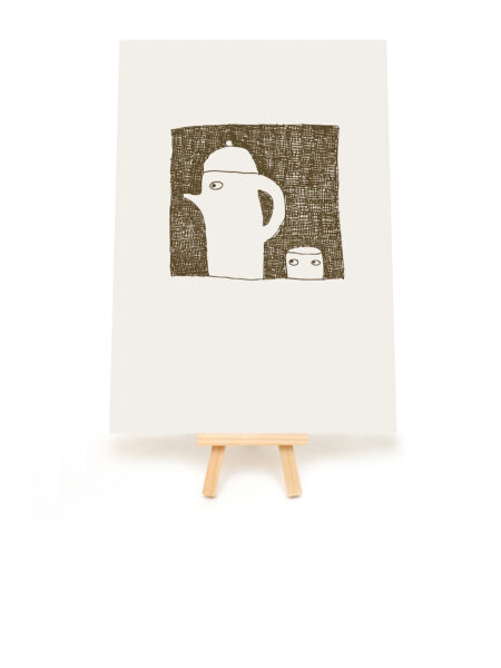 cup and teapot print